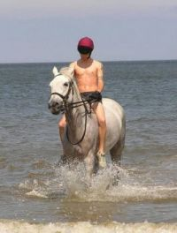 Household Cavalry Paddling at Holkham Beach 2013-02