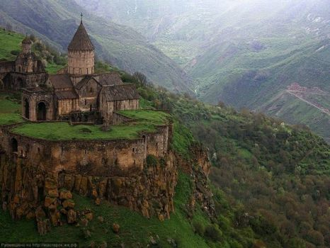 Ancient Monastery in Armenia - photog undecipherable