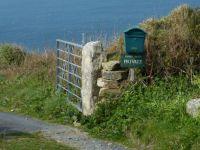 Eingang zum Rinsey Head Klippencottage