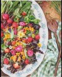 Organic veggies and flowers