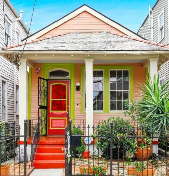 Colorful Little House in New Orleans...