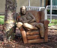 UCSD- Resting Man Statue