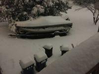 Denis' boat in snow