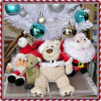 Some of my Xmas folk under the Christmas tree.