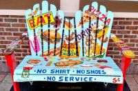 AE Fast Food Frenzy Bench Art