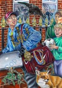 Poppy Palin Art - 'Away with the Loot!'