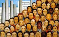 "Tarsila do Amaral - Braziian artist - ""Operarios"" (1933)"