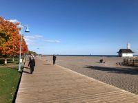 Beach boardwalk fall