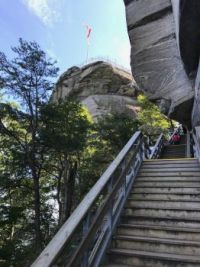 Steps to Top of Chimney Rock