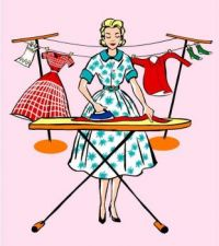 Themes Vintage illustrations/pictures - Ironing