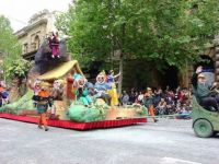 Christmas Pageant Has Come To Town - Snow White Float