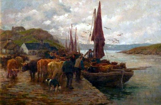 The Ferry by Charles James Adams (1859-1931)