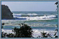 Surf breaking at Ulladulla Head.