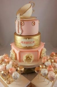 tea-party-bridal-shower-cake-with-pops~Cool cakes