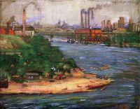Ada Augusta Wolfe (American, 1878-1945), Bohemian Flats (1913)