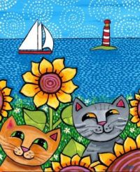 cats by the sea
