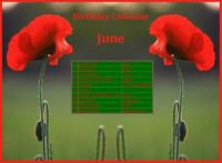 Birthday Calendar  June