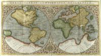 old map of the world by Gerard Mercator (1587)