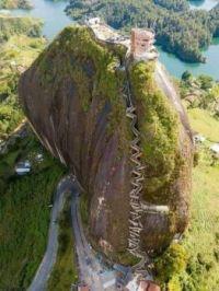 Rock of Guatape, Medellin, Colombia.