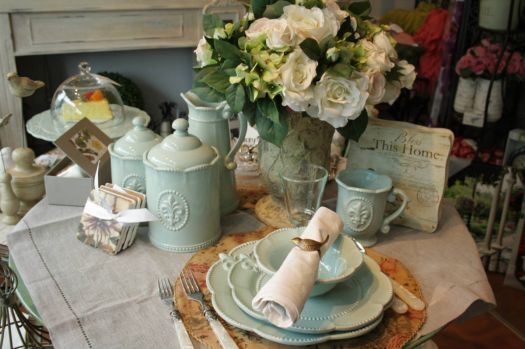 Pale Blue Table Setting