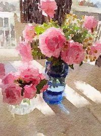 Watercolor of roses