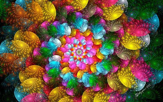 So beautiful and colorful spirals and more spirals!!