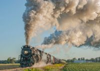 NKP 765-PM 1225 double head photo freight