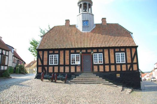 The old Townhall in Ebeltooft Denmark built 1789