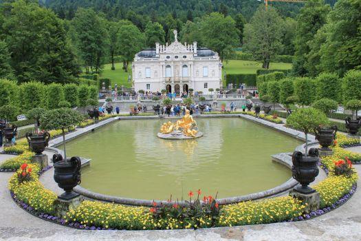 Linderhof Palace in Ettal, Germany