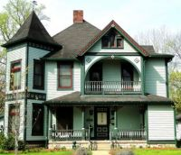 Well maintained Green Victorian Home