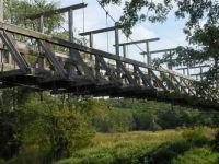 Pedestrian Bridge on Appalachian Trail in N.J.