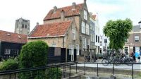 Lovely houses around the (former) harbour of Goedereede. The church doesn't have a steeple, because...