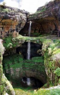 The Triple Waterfall Of Baatara Gorge