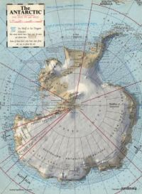 vintage map of the antarctic