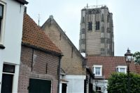 Tower of Goedenreede. Built as a light-house (fire on the top), but also as a church tower.