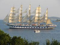 Royal Clipper vor Pelješac