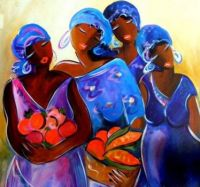 Caribbean Art - by Ronnie Biccard  'The Gatherers'