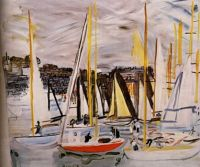 """Raoul Dufy, """"The Basin of Deauville"""", 1935"""