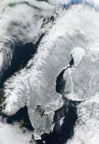 Images from Space: A winter wonderland – snow-covered Scandinavia image by NASA