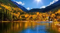 Georgetown Reservoir in autumn, Arapaho National Forest, Colorado