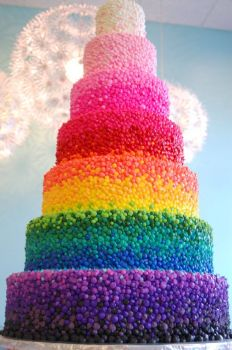 s92 -rainbow cake- , by riseandshinebakery on flickr