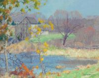 Maurice Braun (American, born in Hungary, 1877–1941), Pond at Old Lyme, Connecticut