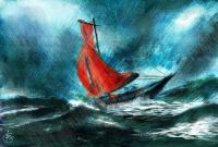 boat in a storm-