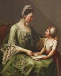 Elizabeth Davers Countess of Bristol and her daughter Louisa Theodosia Hervey