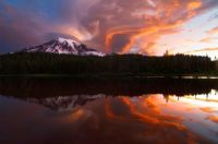 Sunset Mount Rainier Earth shots i think
