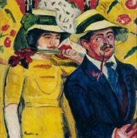 Max Pechstein Ger. 1881-1955 Double Portrait(1910)