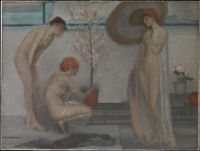 James Whistler, Three Figures: Pink and Grey