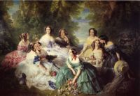 The Empress Eugenie Surrounded by Her Ladies in Waiting (1855)