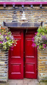 Dark Red Doors