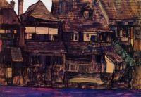 Egon Schiele Houses on the Moldau, Krumau